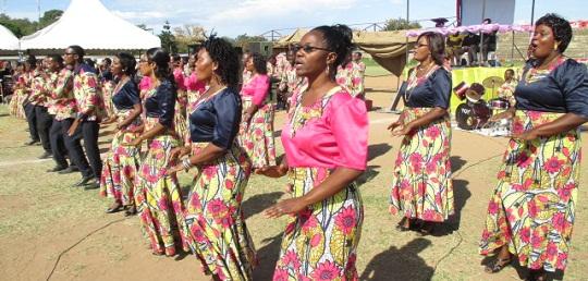 AICT CVC kutoka Dar wakiimba kwenye maadhimisho ya miaka 20 ya AICT dayosisi ya Mara na Ukerewe