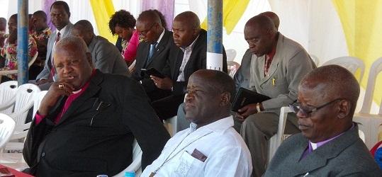 Maaskofu wa AICT wakiwa kwenye maazimisho ya miaka 20 ya dayosisi ya Mara na Ukerewe.